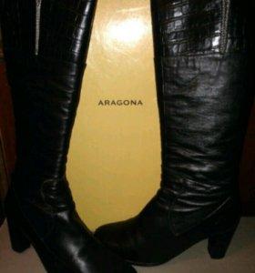 Фирменные сапоги aragona зимние