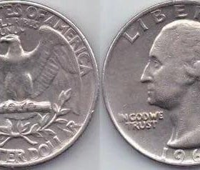 Доллар перевертыш Либерти 1965г.
