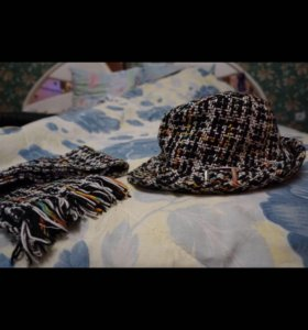 Твидовая шляпка и шарфик