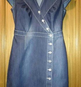 Джинсовый сарафан, платье Р.44-46