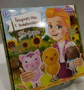 Набор для создания игрушек из помпонов