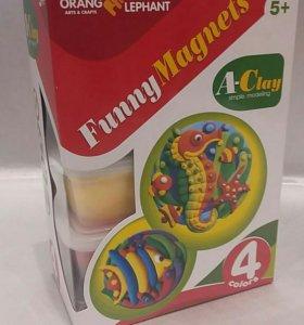 Набор для создания магнитов из легкого пластилина