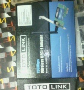 Беспроводной wi-fi PCI-E адаптер Totolink N150