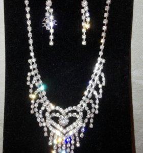 Ожерелье серьги Новый набор