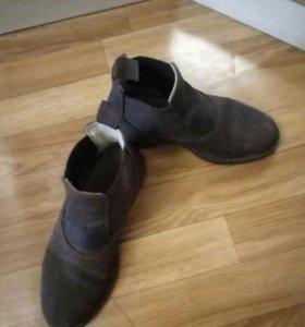 Ботинки для занятия верховой ездой, замшевые