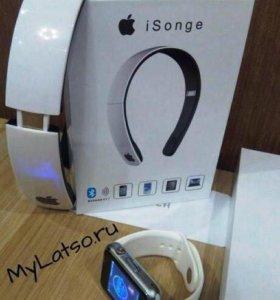 Набор Bluetooth, умные часы + наушники