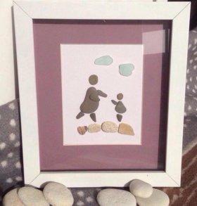 Картины из камней и ракушек