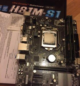 Core i5-4570 + GA-H81M-S1 + 8GB