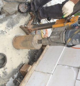 Алмазное бурение отверстий. Резка бетона.