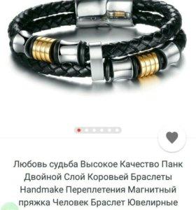 Стильные мужские браслеты из силикона и стали