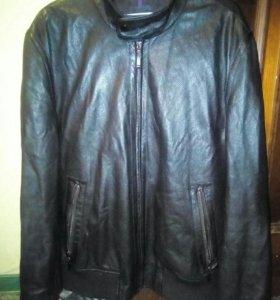 Мужская кожаная куртка бомбер Al Franco