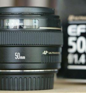 Объектив Canon 50mm f/1.4