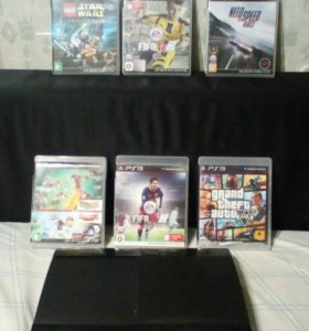 Playstation 3 ps3 (+9 игр)
