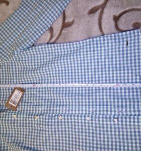 Мужская рубашка длинный рукав новая с биркой