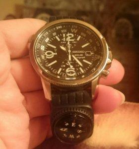 Часы Seiko Pilot Solar хронограф