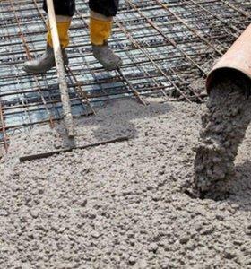 Фундамент, бетонные работы, стяжка, земляные работ