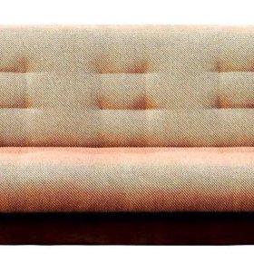 Диван Книжка рогожка коричневая