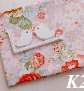 Ткань сатин Цветы