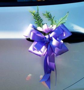 Бантики на ручки свадебного авто