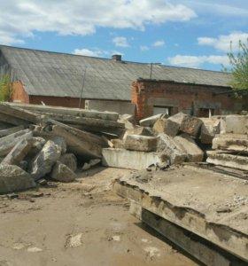 Плиты перекрытия.блоки бетонные.прием и дробление