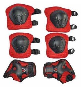 Комплект защиты (наколенники, налокотники, перчат