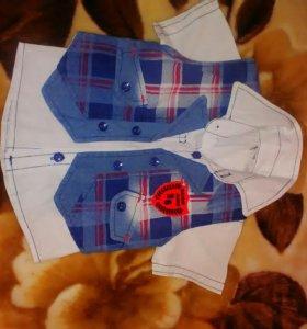 Рубашка и жилетка для мальчиков