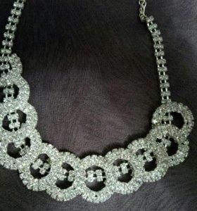 Свадебная бижутерия+сережки