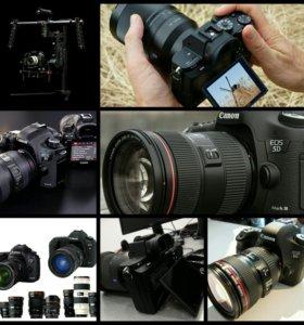 Прокат Sony a7sll Canon Marklll Canon 6D Canon500D