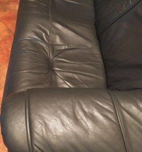 диван натуральная кожа
