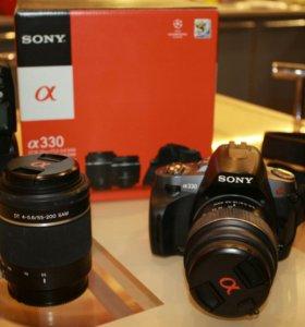 Фотокамера sony a330 2 объектива