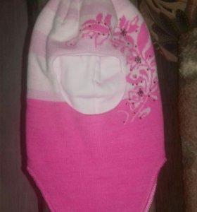 Шапка-шлем для девочки FUTURINO (ИЗ Детского Мира)