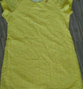 Летнее легкое хлопковое платье (новое)