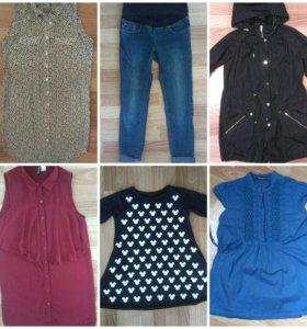 Джинсы, платья, блузки беременной