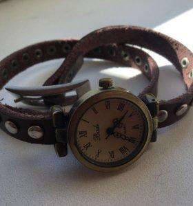 Часы кожа