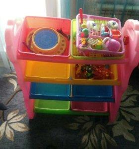 Полка детская для игрушек, с кольцом.