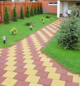 Тротуарная плитка. Разные формы и цвета