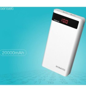 Повербанк ROMOSS Sense 6 Plus с LCD