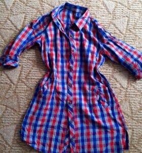 Рубашка-платье-туника