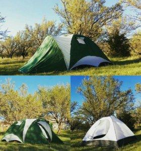 Новая 3-х местная палатка с тамбуром.