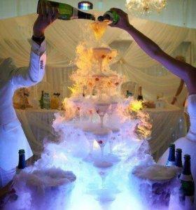 Водопад из шампанского