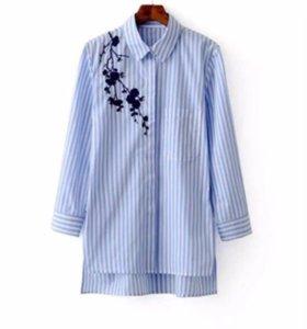 Рубашка с вышивкой в полоску