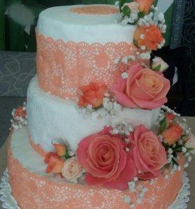 Свадебные торты , капкейки