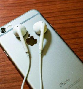 Оригинальные наушники apple EarPods iPhone 6