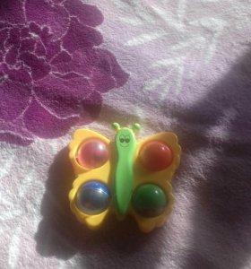 погремушка бабочка фишер прайс