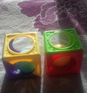 погремушки-кубики фишер прайс