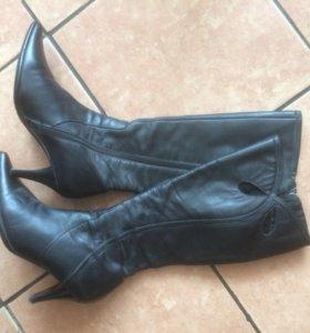 Сапоги кожаные 35-36 размер