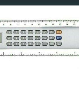 Калькулятор-линейка 20см 8-разрядный, серебристый