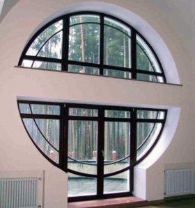 Деревянные евро окна!за кв/метр