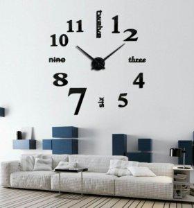 Настенные часы 3D Цифры Севен