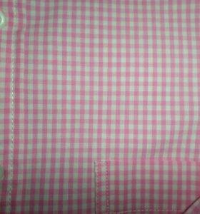 Рубашка розовая клетка